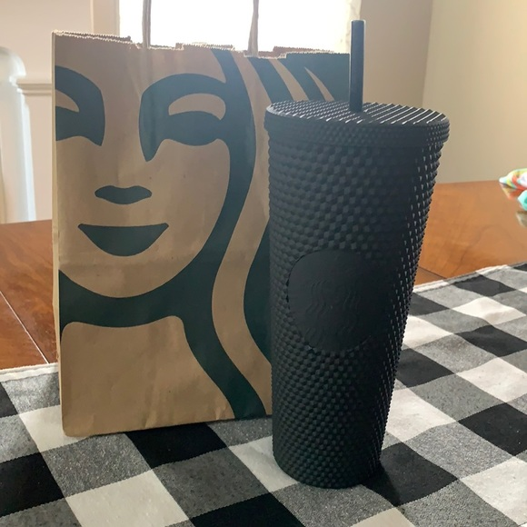 Starbucks Black Matte Studded Trenti cup